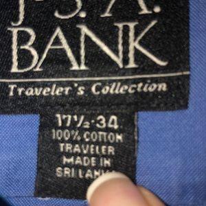 Jos A Bank dress shirt 17.5 x 34  French blue